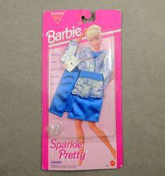 Barbie 1990s Fashion Pack Sparkle PRETTY1993 Arco Easy to Dress Silver Lame NRFC | eBay