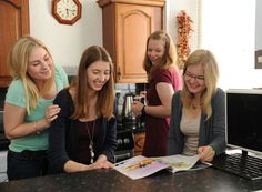 4 students share a laugh in their host families kitchen South Devon, Family Kitchen, Exeter, Families, Trips, Students, Viajes, My Family, Traveling