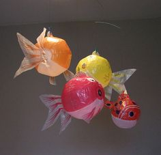 2b773a4dd557 Japanese paper balloons. So adorable. Balloon Fish