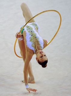 Bronze medalist Russia's Alexandra Soldatova performs her exercise with hoop at the individual final of the Rhythmic Gymnastics World Cup in Debrecen, Hungary on March Gymnastics World, Gymnastics Photos, Gymnastics Photography, Sport Gymnastics, Artistic Gymnastics, Rhythmic Gymnastics, Gym Leotards, Bronze, World Cup 2014