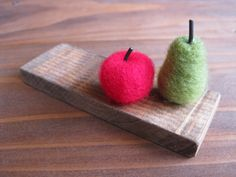 羊毛フェルト*りんごと洋ナシのオブジェ