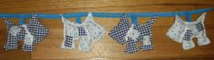 Scottie Dog Bunting approx 1mt.  Handmade at Oople
