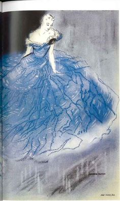 Ruth Freeman, Arthur Banks evening gown for Harrods promotional material, c.1951.