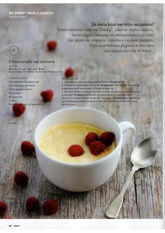 Revista Bimby Fevereiro 2015 What To Cook, Recipe Cards, Panna Cotta, Oatmeal, Good Food, Food And Drink, Menu, Favorite Recipes, Sweets