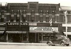 Johnsrud's Food Market employed a black gentleman -- the first one I had ever seen. But he was very nice.