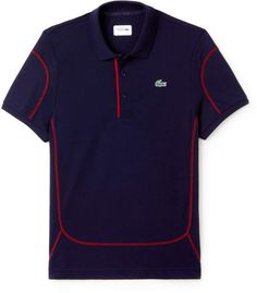Piping and subtle contrasting flat stitches set off this Lacoste Sport Tennis polo in ultra-lightweight cotton. Polo Shirt Brands, Polo T Shirts, Camisa Polo, Lacoste Men, Lacoste Sport, Mens Fashion Blazer, Athletic Fashion, Golf Outfit, Sport Casual