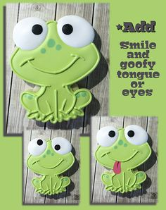Cute and Easy Frog Cookie by Krista Heij-Barber of Cookies with Character for SugarEd Productions. So cute!