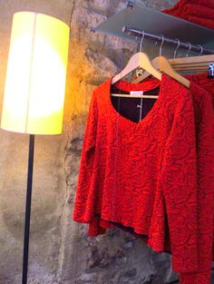 Anna Povo A/W 14 red roses blouse