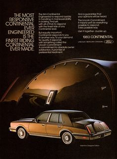 1983 Lincoln Continental by aldenjewell, via Flickr