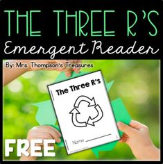 Beginning readers can learn about the Three R's for Earth Day with this cute take home emergent reader book. Easy to assemble: color, cut, and staple!Also includes an anchor text to introduce the Three R's. ...