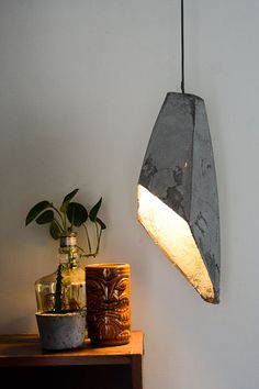 Hanging Concrete lamp - needs some improvements structure-wise, but isn't this a fantastic lamp?