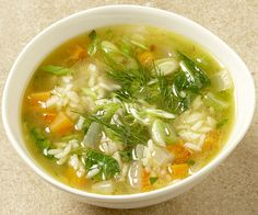 Chicken and Rice Soup with Spinach, Lemon, and Dill recipe