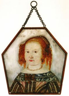 Coffin portrait of Barbara Bronikowska (1669-1671) daughter of Zygmunt lord of Kursk and Anna née Dziembowska by Anonymous Polish Painter, ca. 1671 (PD-art/old), Muzeum w Międzyrzeczu