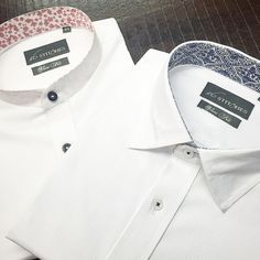 Whites in 2 different styles! Which one's your perfect style?  #menswear #mensstyle #mensfashion #style #fashion #bespoke #custom #tailormade #shirts #designer #dapper #classy #classymen #dappermen #gentlemen #luxury #vogue #gq #india #mumbai #instagood #instalike #igers #formal #formals