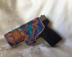 Gun Holster with Strap by IronAnvilLeather on Etsy