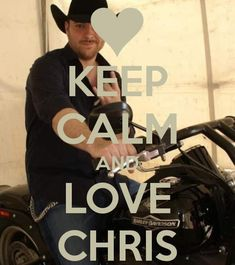 chris young on a motorcycle?? yes please!!