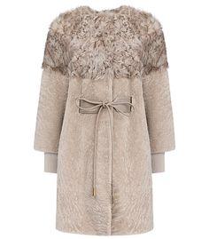 Жакет из овчины и меха козлика со съемными рукавами Virtuale Fur Collection 182506000, купить в интернет магазине недорого, цена с фото в Москве