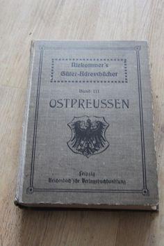 Niekammers Güter Adressbücher Band III Ostpreussen!!!! Rarität !!! Prussia, Germany, Band, Historical Pictures, Left Out, German, History, Sash, Deutsch