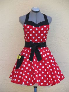 Minnie apron.  Currently not available, but great inspiration if you are able to make this yourself