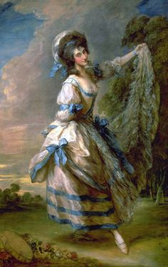 Giovanna Baccelli, Italian dancer, 1782, Thomas Gainsborough. She was a principal ballerina in London at the King's Theatre, Haymarket, where she first appeared in 1774. She reached the peak of her acclaimed career during the 1780-1 season when she appeared with Gaetan Vestris and his son Auguste in several important ballets devised by Noverre. Baccelli was equally known as the last and most enduring mistress of John Frederick Sackville, 3rd Duke of Dorset (1745-99). Tate