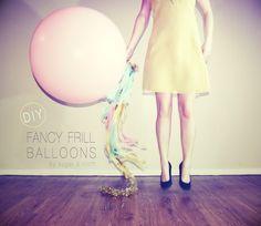 DIY fancy frill balloons