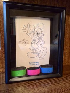 Shadow box to store Magic Bands until it's time to go again #wdw #disney