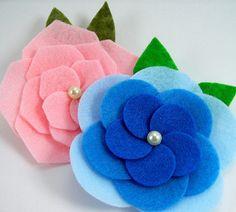 Felt Flower Tutorial Bundle ... includes 3 flower tutorials