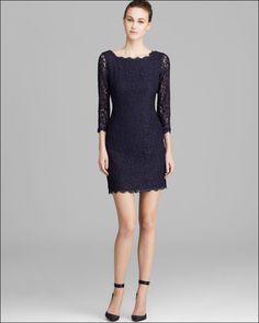 Adrianna Papell Dress Three-quarter-sleeve Lace Sheath