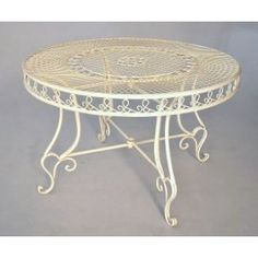 """Wrought iron table beige. Collection """"Umbrella"""""""