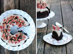 Chocolate Bundt Cake with Figs & Cashew Cream / 27 Big And Beautiful Bundt Cakes (via BuzzFeed)