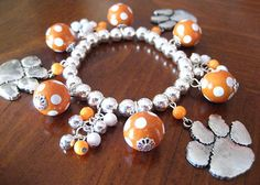 Clemson Bead Bracelet