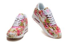Nike Air Max 90 Floral Pink/Wild rose via MFancy Boutique. Click on the image to see more!