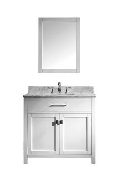 Virtu USA MS-2036-WMSQ-WH Caroline 36-Inch Bathroom Vanity with Double Square Sinks in White and Italian Carrera White Marble Virtu USA http://www.amazon.com/dp/B00CL3VAWQ/ref=cm_sw_r_pi_dp_3VcSub09NDBT9