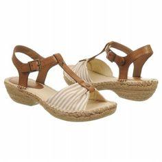 $39.99 CLIFFS Cheerio Sandals Natural Stripe Women`s Sandals class