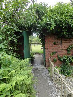 Hill Top garden gate of Beatrix Potter, Cumbria Lake District, England, UK