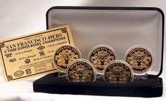San Francisco 49ers 24KT Gold Super Bowl 5 Coin Set