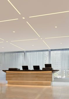 Add ultramodern ambiance to an office lobby or reception area with TruLine 1.6A - by Pure Lighting