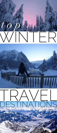 Whether you're looking for cold winter snow magic or a sunnier option, here's our list of travel blo Us Travel, Places To Travel, Family Travel, Places To Visit, Wanderlust Travel, Wedding Destination, Destination Voyage, Winter Travel, Holiday Travel
