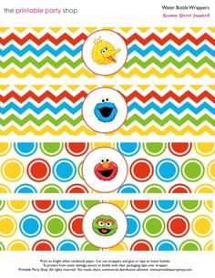 Sesame street sign template category sesame street piece of sesame street printable for water bottle pronofoot35fo Choice Image