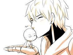 Saitama and Genos from One Punch Man
