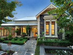 pavers and front garden design - 46 Westall Street Unley Park SA