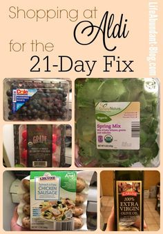 Shopping at Aldi for the 21-Day Fix {Plus: My Week #2 Meal Plan!} • Life Abundant Blog