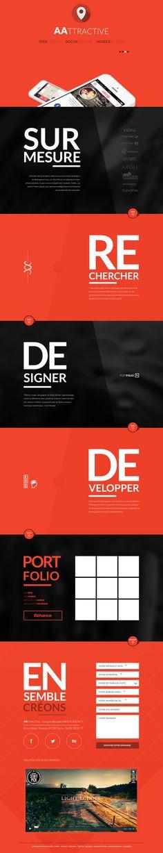 Unique Web Design, AAtractive #WebDesign #Design