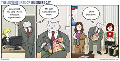 The Adventures of Business Cat | Waiting Room