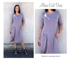 Alissa Knit Dress Sewing Pattern By Style Arc