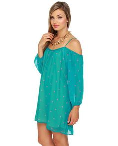 I Heart You Teal Print Dress ..actually buying this yesss so cute.