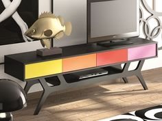 Meuble TV. Mod. TWIGGY1302 Flat Screen, Tv Unit Furniture, Handmade Home Decor, Tv Storage, Solid Wood, Boutique Online Shopping, Flatscreen