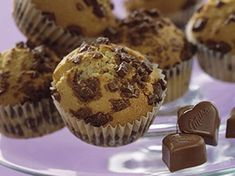 Muffin au Chocolat Milka® Good Food, Yummy Food, Cake Cookies, Cupcakes, Nutella, Dessert Recipes, Tasty, Sweets, Butter