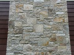 View Stone Veneer Videos and more Colonial Tan™ Photos Stone Veneer Siding, Thin Stone Veneer, Wall Exterior, Exterior Siding, Stone Chimney, Wall Cladding, Natural Stones, Granite, Home Remodeling