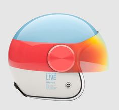 lacoste Gradient colors helmet